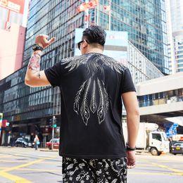 camisetas personalizadas más talla Rebajas Camiseta de manga corta con cuello redondo y manga corta para hombre talla grande, más tamaño 2XL-7XL camiseta impresa personalizada de Phoenix