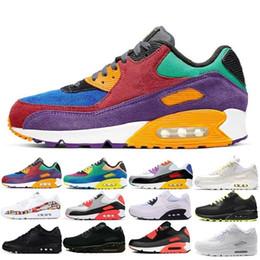 2020 New Shoes clássico 90 homens e uma mulher Shoes instrutor Almofada Superfície Casual sapatos tamanho 36-45 de