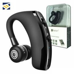 2019 samsung embalaje de auriculares V9 inalámbrica Bluetooth Auriculares Auricular de negocios Drive auriculares auriculares con micrófono estéreo RSE 4.1 de cancelación de ruido de control por voz con el paquete samsung embalaje de auriculares baratos