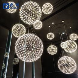 luzes led esféricas Desconto Dandelion Pingente Gypsophila Lustres Lustres nórdicos pós-modernos lustre 20 cm / 30 cm / 40 cm / 50 cm de diâmetro placa de Metal luz esférica