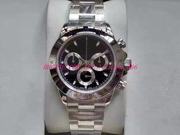Eta механические часы онлайн-2019 Роскошные наручные часы Хронограф Секундомер Eta 7750 Часы Черный Синий Циферблат 40 мм 116500 Автоматические механические мужские наручные часы