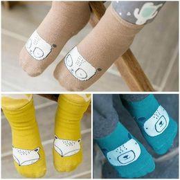 Medias de panda online-Calcetines de algodón para bebés Niño pequeño Bebé de dibujos animados lindo Calcetines cortos Niños Panda Fox Medias de animales Niños Longitud de la rodilla Piso Medias de tobillo