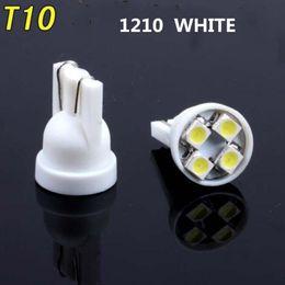 Canada 100pcs / lot intérieur de voiture en céramique LED T10 COB W5W 168 Wedge porte instrument ampoule côté lampe lumière plaque de lumière blanche / bleue / verte / rouge / jaune cheap instrument light bulbs Offre