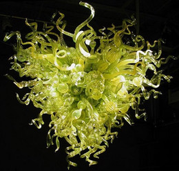 India Long Colored Crystal Chandelier Hand Blown Glass Chandelier LED Light Source 100% Hand Blown Glass Long Chain Chandelier Light Fixture Ceiling