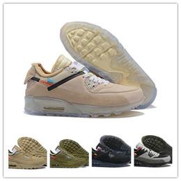 size 40 f1892 dada0 nike air max mens 90 Off Scarpe da corsa Sneakers Zapatillas Hombre Ore  Brown white airs Designers Classic 90s Scarpe sportive da allenamento sconti  ...