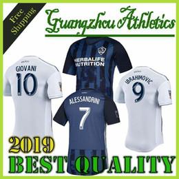 Maglia da calcio LA Galaxy Soccer Away Maglia da calcio blu Navy Away Zlatan Ibrahimovic ALESSANDRIN LLETGET Uniforme da calcio cheap navy blue uniforms da uniformi blu navy fornitori