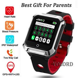 Yaşlı Yaşlı Yaşlı Adam GPS + LBS + WIFI Konumlandırma Kan Basıncı Nabız Tracker IP67 Yüzme SOS Çağrı Akıllı İzle Smartwatch nereden