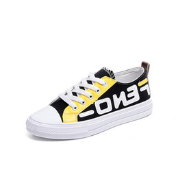 Zapatillas de lona niño online-FF fashion luxury designer women shoes girls Boys Fends Kids Canvas Shoes Student Sports Gym Summer Tennis Shoes Casual Sneakers hot B73104