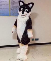 2019 marrone husky cane NUOVO STILE Cartone animato marrone cane volpe Husky Mascot, foto fisiche di fabbrica, qualità garantita, benvenuto agli acquirenti per la valutazione e le foto del carico marrone husky cane economici
