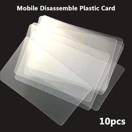 comprimido aberto Desconto Repair Tool 10pcs Handy plástico Cartão Pry raspador Abertura para iPad Tablet para Samsung Mobile Phone colado Ferramentas manuais Tela