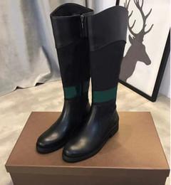 La dernière marque de chaussures en cuir G6375, les genoux, les bottes, les bottes de mode, les cuisses et les bottes haute boîte à chaussures de designer décontracté ? partir de fabricateur