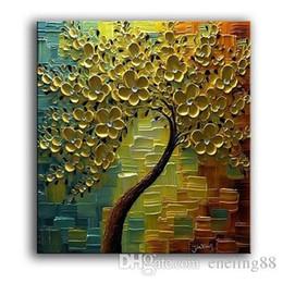 Deutschland Abstrakte goldene Blumen-Baum-Qualitäts-handgemaltes / HD Druck-modernes Wand-Dekor-Kunst-Ölgemälde auf Canvas.Multi Größen / Rahmen Wahlen Ls66 Versorgung