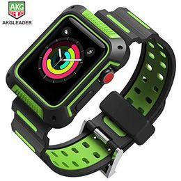 Estuche protector resistente con bandas de correa para la serie de relojes de Apple 4 44mm 40mm Bandas de reloj Banda de reloj de caucho desde fabricantes