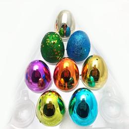 Яйца пазл онлайн-Пластиковые Красочные пасхальные яйца Экологичные Пряжка яйца головоломки яйца Детские Детские игрушки День подарков Пасха DIY украшения для вечеринок GGA3185-9