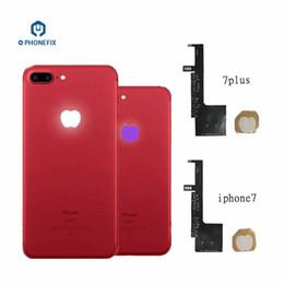 handytastatur zubehör Rabatt PHONEFIX 16 Farben Touch Control Zurück Logo Nacht Glow Lampe Flex Kabel Beleuchtung LED Für iPhone 7 plus Logo Ersatz Flex Kabel