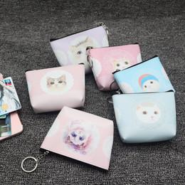 telefoni cellulari di gatto Sconti Mini borsa da donna in pelle con cerniera gatto portamonete portamonete portamonete portamonete portamonete portafogli piccola ragazza monederos