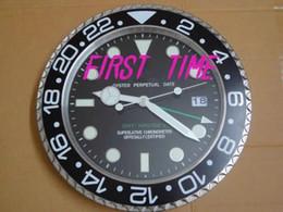 Novo relógio de parede de design on-line-Home Decor relógio de parede design moderno de alta qualidade da marca de aço inoxidável luminosos face calendários FT-RLX-GMT001