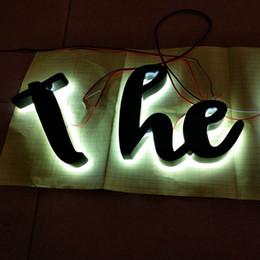 Letra personalizada levada sinal on-line-Frete grátis ao ar livre personalizado 3d luzes led carta sinais de publicidade canal letras de sinal para frente da loja