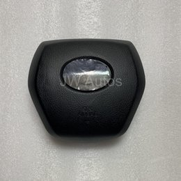 2019 novas tampas de airbag Alta Qualidade Preto Airbag Tampa SRS Para 2018 Camry Volante Airbag Tampa Novo Motorista airbag cobre (Emblema / Logotipo / Emblema Incluir) novas tampas de airbag barato