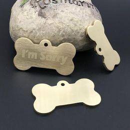 26027de97e461 Pet Köpek yaka aksesuarları Dekorasyon Pet KIMLIK Köpek Etiketleri Yaka  Pirinç düz kenar köpek etiketi metal