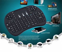 2019 controle remoto android para caixa de mídia Teclado sem fio RII teclados i8 Fly Air Mouse Multi-Media Remote Control Touchpad portátil para TV BOX Android Mini PC B-FS