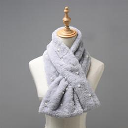384e30deea9 2019 cruces para bufandas Mujer bufanda de invierno de piel sintética  estolas imitación rex bufandas de
