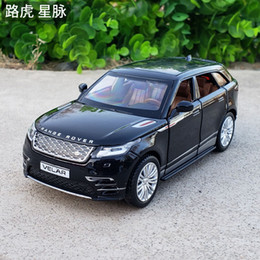 cars model lighting Coupons - 1:32 Scale Diecast Alloy Metal Luxury SUV Car Model For Range Rover Velar Collection Off-road Vehicle Model Sound&Light Toys Car
