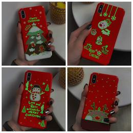Deutschland Frohe Weihnachten Geschenk harter PC Fall für iphone XS MAX XR X 8 7 Plus 6 6S leuchtendes Glühen in dunkler Weihnachtsmann-Hut-Baum-Elch-Schnee-Schneemann-Abdeckung cheap hats case Versorgung