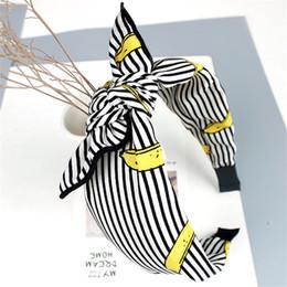 Grande tessuto di stampa floreale online-Haimeikang Multi-Style Retro Bowknot Larga fascia per capelli Copricapo Ragazze Tessuto Stampa floreale Coniglio Fascia Accessori per capelli
