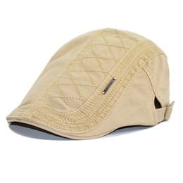 2019 cappello giallo newsboy Berretto da uomo autunno inverno cucitura a traliccio reticolato Cappellino inglese retrò femminile