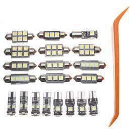 luzes led elantra hyundai Desconto 20 Pcs Car LED Interior Lâmpadas de Leitura Dome Lâmpada Set Nenhum erro para Mercedes Benz C classe W204 (2008-2015) 6000 K 60-130Lm