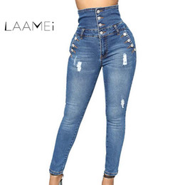 f2b4f2e2416e9 Laamei 2018 New Autumn Winter Woman Denim Pencil Pants Top Brand Stretch  Jeans Classic High Waist Pants Women High Waist Jeans high top skinny jeans  on sale