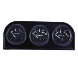 Misura 52mm online-B735 52MM 3 in 1 Auto Meter Auto Gauge Temperatura dell'acqua Sensore di pressione dell'olio Kit triplo