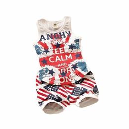 2019 New Fashion Baby Boy Body Suit Quality Cotton Children Letter printing  Vest shorts 2 pcs Summer Kids Clothing Sets Choses fab3590c8c58