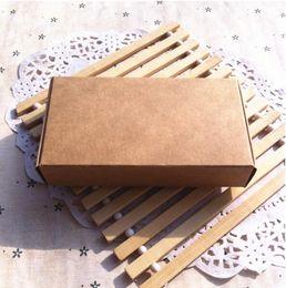 Scatole di kraft riciclate online-Scatole regalo in carta kraft riciclata 50 pz / lotto, scatola portagioie marrone kraft marrone Scatola marrone, scatole regalo