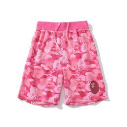 Herren-shorts rote hosen online-Bape Herren Shorts Designer Mens-Sommer-Mode-Strand-Hosen der Männer Frauen Baumwolqualitäts-Shorts Rot Blau M-2XL