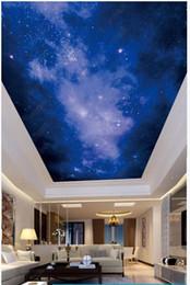 2019 chinesische wandschnitzereien Individuelle Fototapeten 3d Decke Tapete HD großes Bild schönen Sternenhimmel Zenit Wandbild Wohnzimmer Hintergrund Tapeten