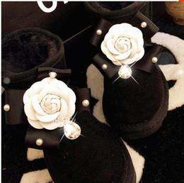 корейская резиновая обувь для женщин Скидка женская обувь весна резиновые сапоги для женщин по колено корейской версии сладкий низкий баррель мягкая замша ручной работы жемчужный алмаз Cam