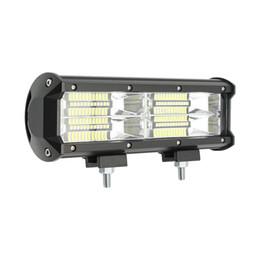 24v грузовик огни Скидка 144W 12V 24V LED Work Light Bar прожекторы 2-Row 48 светодиодов супер яркий 4WD Offroad огни для тракторной лодки SUV ATV Truck 4x4