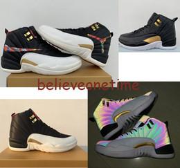zapatos deportivos baloncesto china Rebajas 2019 12 CNY Año Nuevo Chino Multicolor Winterized Hombres Zapatos de baloncesto 12s Gym Red Flu Game Entrenadores Zapatillas de deporte deportivas de diseño Tamaño 7-13