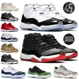 nike jordon retro 11s 11 zapatos de baloncesto Mujeres Concord 45 Platinum Tinte baja cítricos Bred cereza tapa y vestido Space Jam Calzado de diseño