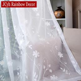 stringa di paglia all'ingrosso Sconti Coreano Bianco Ricamato Voile Tende Per La Finestra Camera Da Letto Tenda Per Soggiorno Tenda Trasparente Tende Tende Su Misura