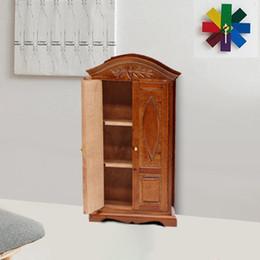 2019 regalpuppe 1:12 puppenhaus simulation miniatur holz vitrine schrank regal schaufenster diy puppenhaus dekor kinder spielzeug m50 # günstig regalpuppe