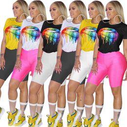 Yoga pants europe online-Modelli esplosione HG5198 Europa e Stati Uniti sexy camicia stampata pantaloni tinta unita con due serie di donne della moda