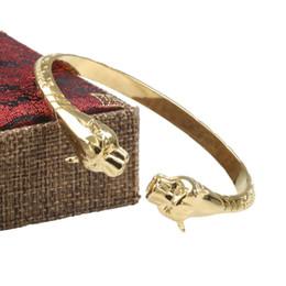 patte d'or Promotion Mode hommes léopard tête Bracelet Ouverture Bracelet Plaqué Or Bracelet de fête de luxe Bijoux