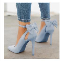 Trascinare i talloni online-2019 NUOVA DONNA SCARPA ALTA STILE Sexy tacchi a spillo 40-41-42-43 scarpe da donna oversize indietro arco