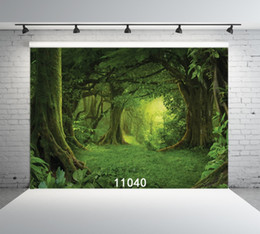 сказочная фотография дети Скидка Fairy Tales Deep Forest Party Play Photography Backdrops Vinyl Custom Backgrounds for Photo Studio Portrait Children Photophone