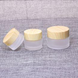 glas kosmetik glasdeckel Rabatt 5G 10G 15G 30G 50G 100g Frost Glasflasche aus Kunststoff Deckel Glasgläser Leere Sahneglas Kosmetik Verpackungsbehälter zum Verkauf