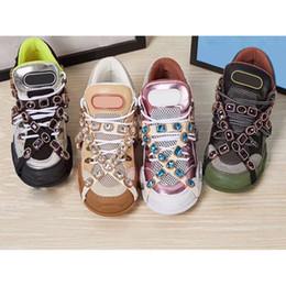 f4b31bd61a783 2019 NEW STYLE LOVERS Sneaker alla moda da papà CON RUNWAY FLASHTREK  SNEAKER CRISTALLI COMODI E TOP QULITY Donna Scarpe uomo Scatola originale  4-45 nuove ...