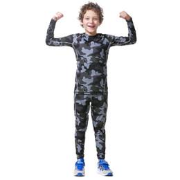 Canada Compression Set Pour Enfants Skinny Joggers Costumes À Manches Longues Camouflage Fitness Compression Set Garçons T-shirt GYMS Vêtements 2018 Nouveau # 715982 cheap denim suits for kids Offre